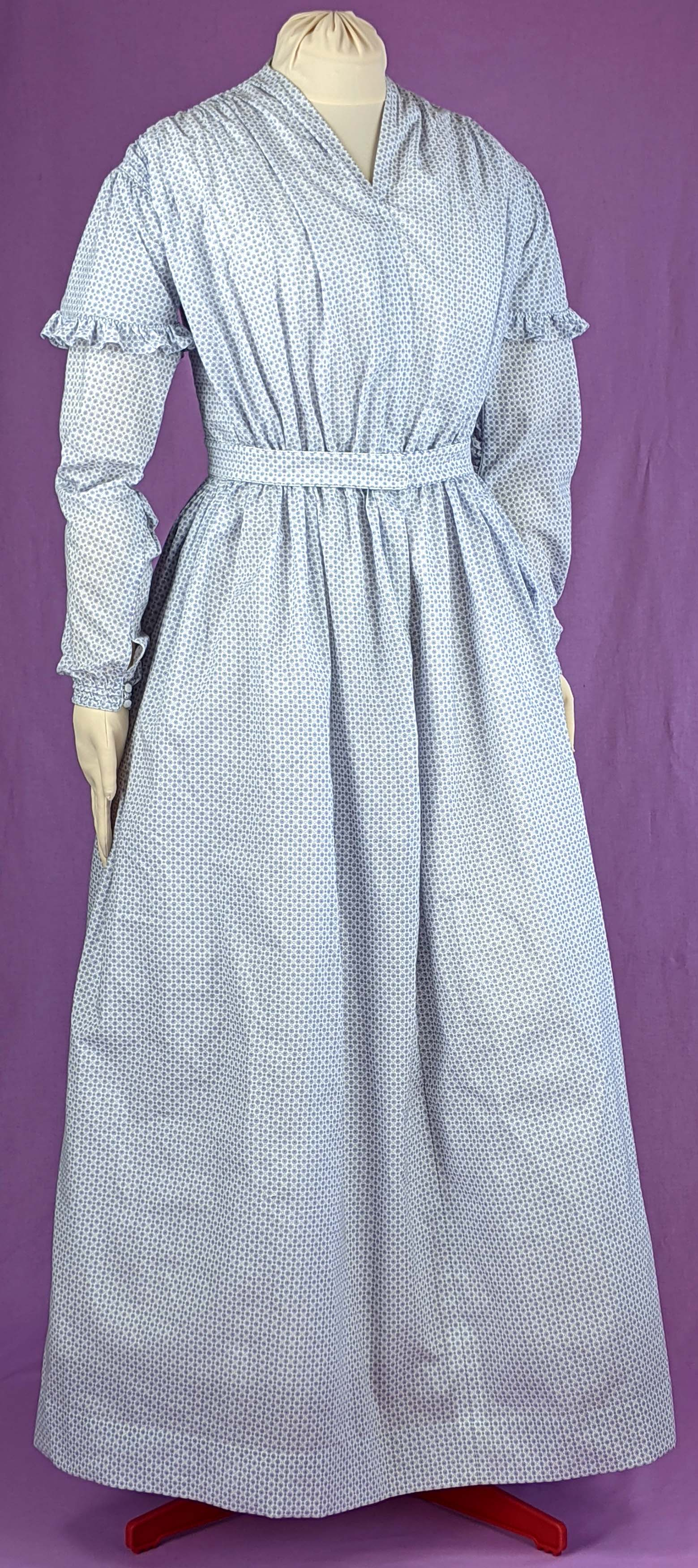 1840s Morning or Working Womans Dress Sewing Pattern #0121 Size US 8-30 (EU 34-56