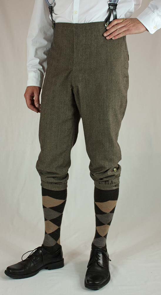 Edwardian Men´s Cycling Breeches about 1890 Sewing Pattern #0316 Size US 34-48 (EU 44-58) PDF Download