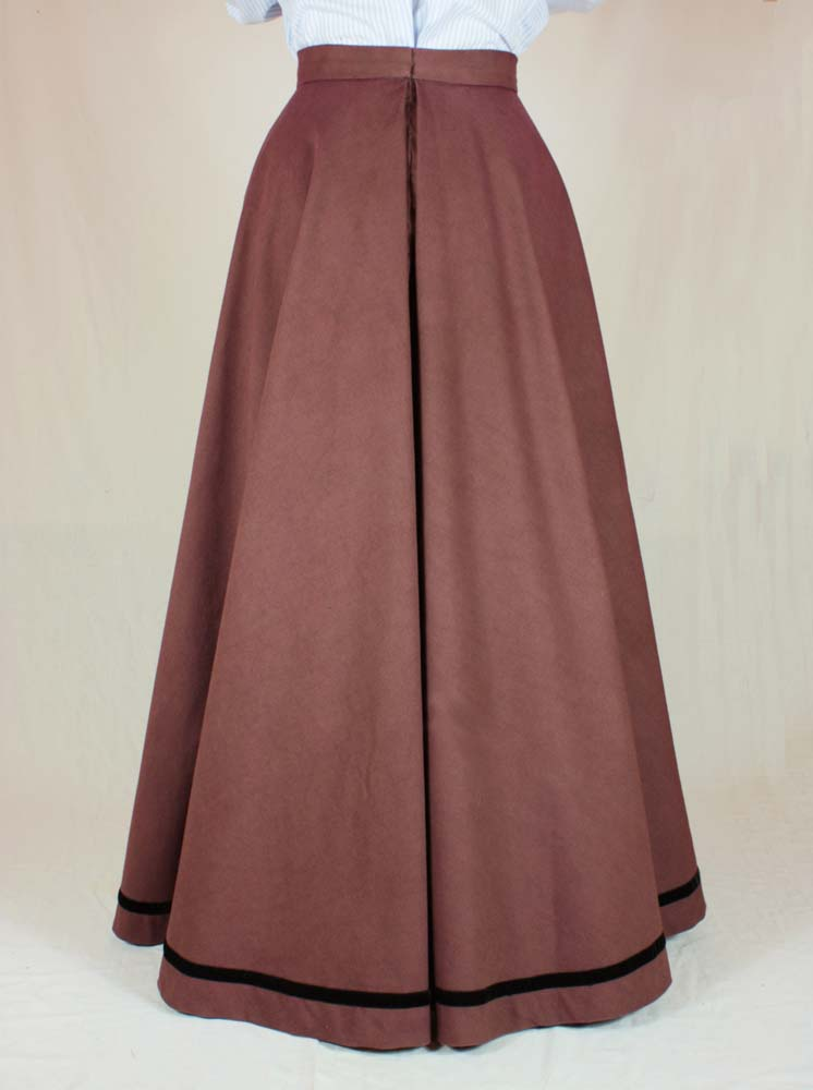 Edwardian Skirt (Fan-Skirt) worn about 1890 Pattern #0414 Size US 8-30 (EU 34-56)