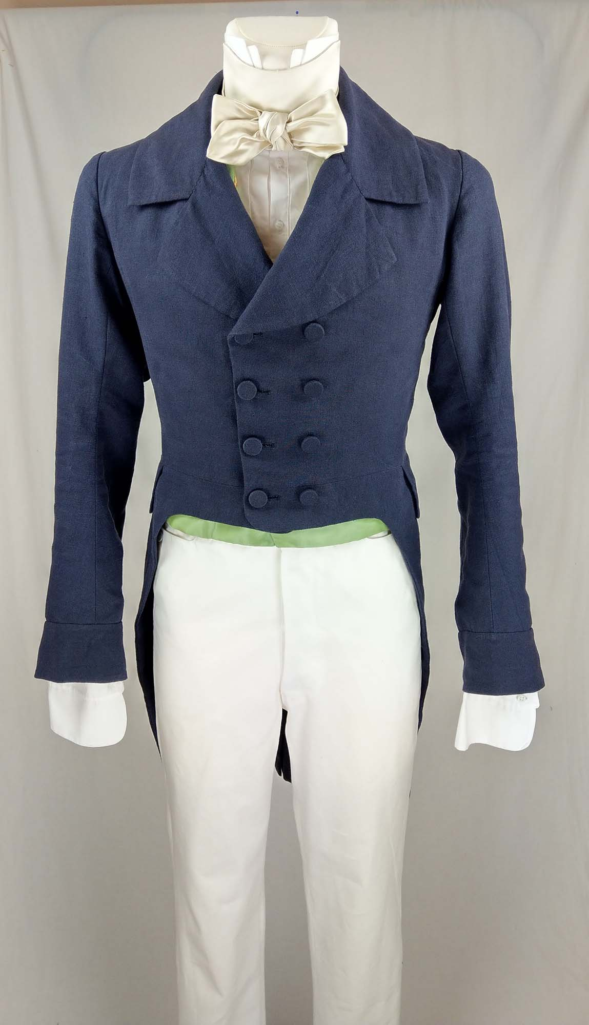 1830 Tailcoat (linen) sewing pattern #0517 Size US 34-48 (EU 44-58) PDF Download