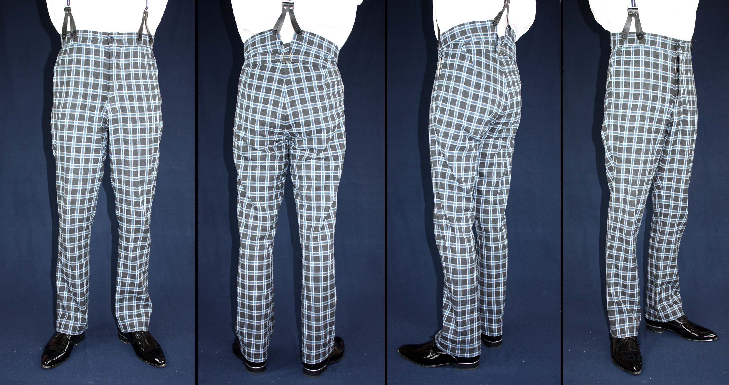 Trousers Biedermeier 1830 to 1860 with a wide and a tight fitting leg Sewing Pattern #0218 Size US 34-56 (EU 44-66) PDF Download