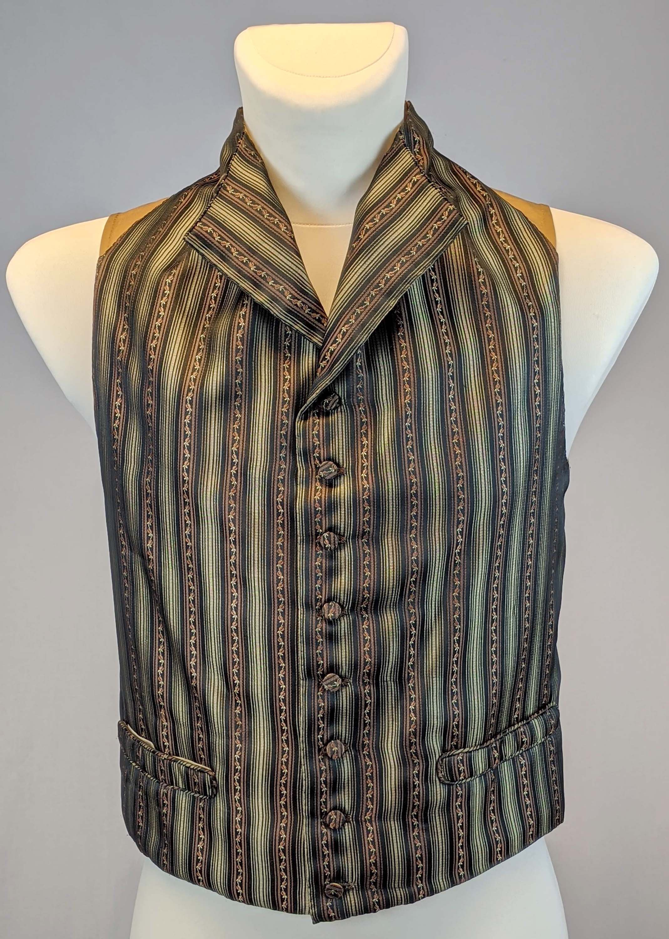 Georgian Mens Waistcoat, late 18th century Sewing Pattern #0819 Size US 34-56 (EU 44-66) PDF Download